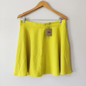 ASOS Lime Yellow Skater Skirt NWT